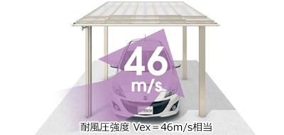 耐風圧強度 Vex=46m/s相当